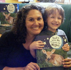 Child with author at Lemuria